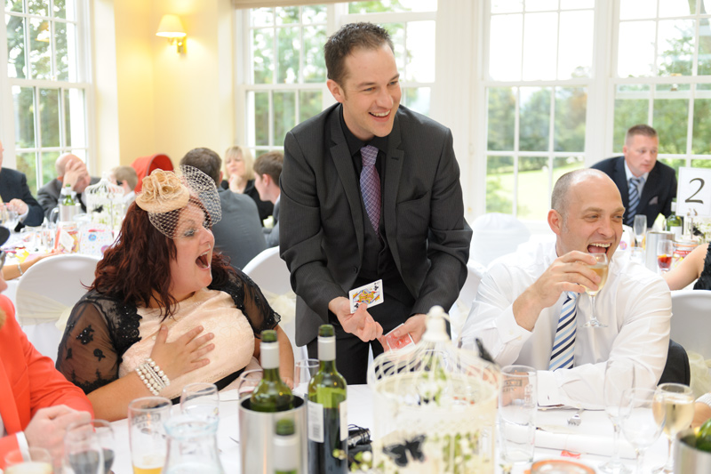 Magician Nick Rushton for weddings parties and corporate events.