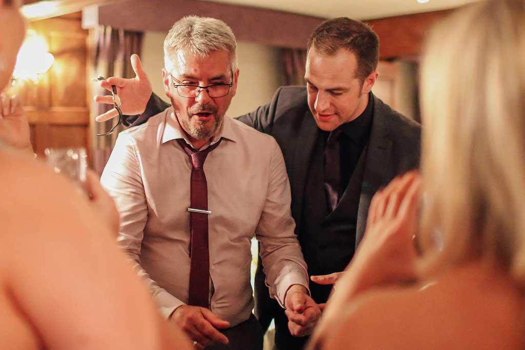 Wedding pickpocket magician