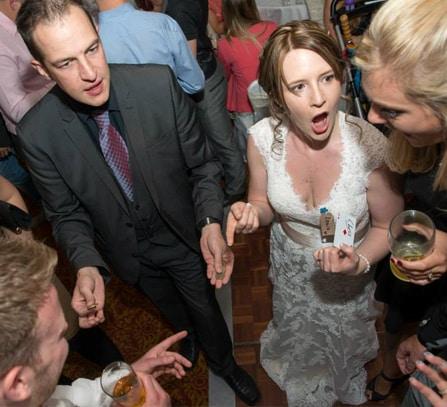 Wedding party magician